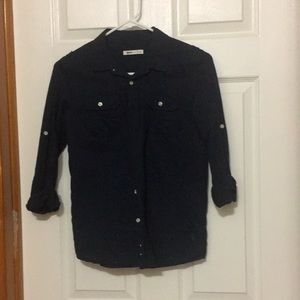 Other - Button down boys shirt dark blue size 9-10